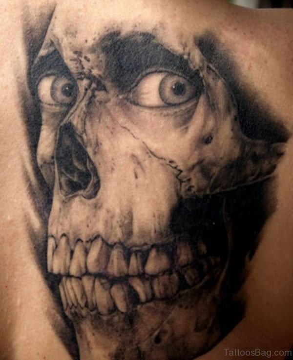Skull Horror Tattoo