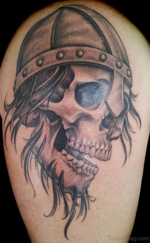 Skull Viking Tattoo