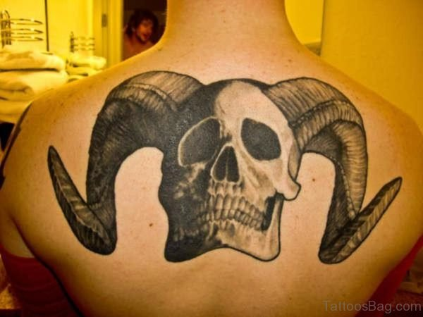 Skull With Horns Tattoo