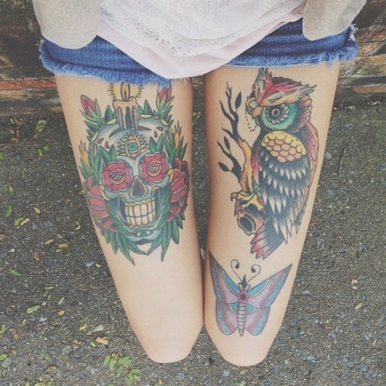 39 Exciting Owl Tattoos For Thigh