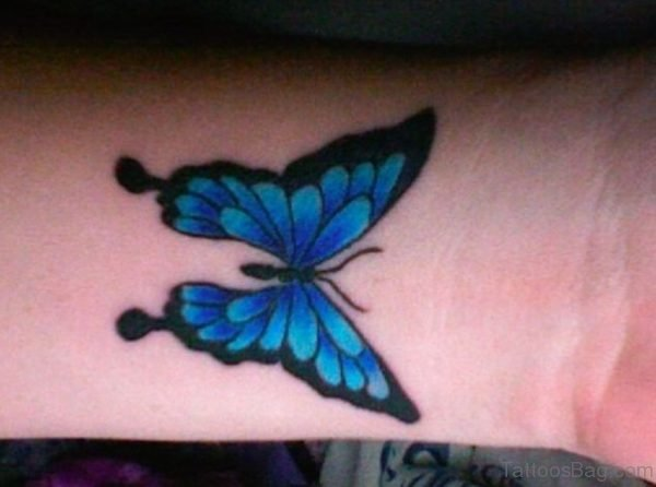 Sky Blue Butterfly Tattoo