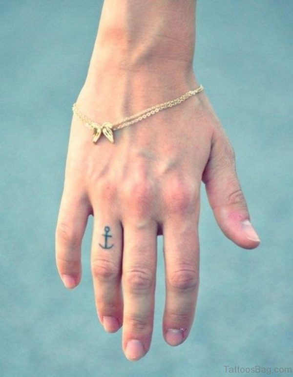 Small Anchor Tattoo