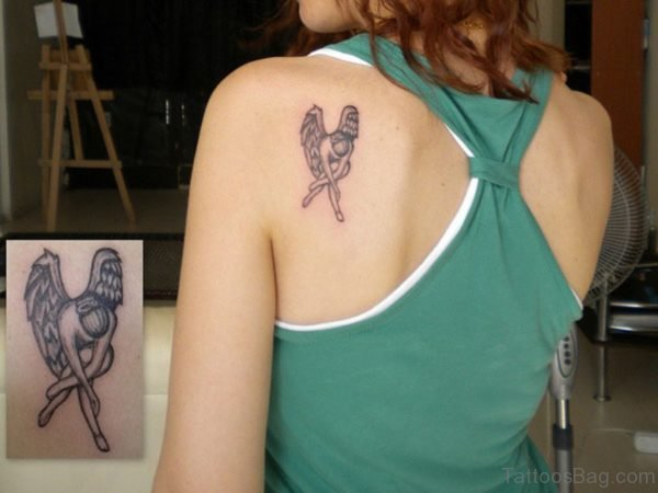 Small Angle Shoulder Tattoo
