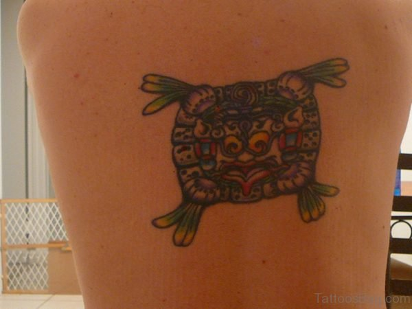 Small Aztec Tattoo On Back