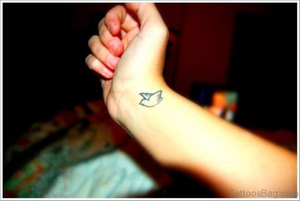 Small Bird Tattoo On Wrist