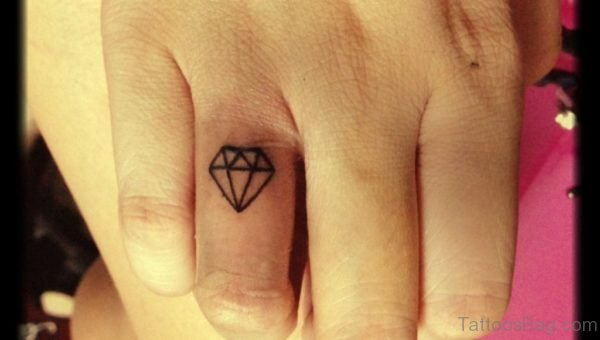 Small Diamond Tattoo Design