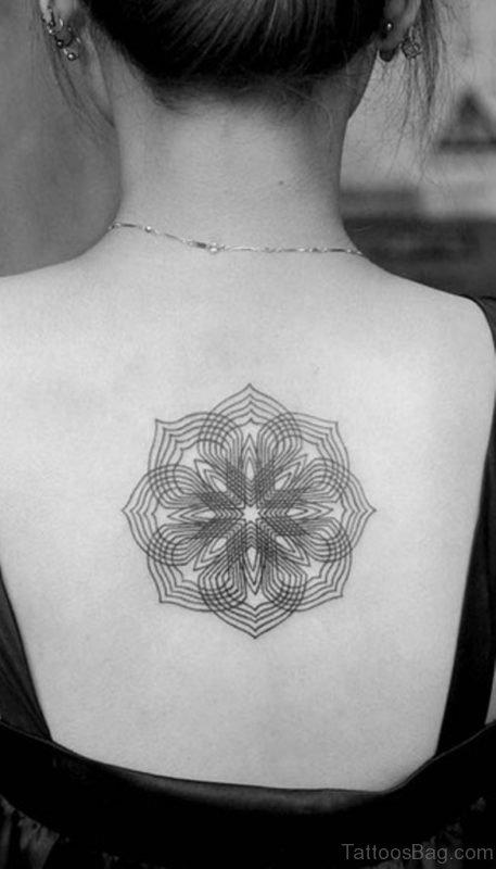 Small Geometric Tattoo On Back