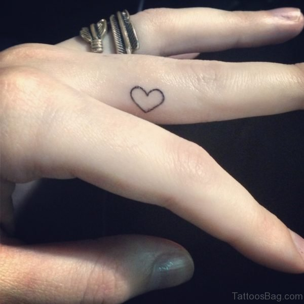 Small Heart Tattoo On Finger