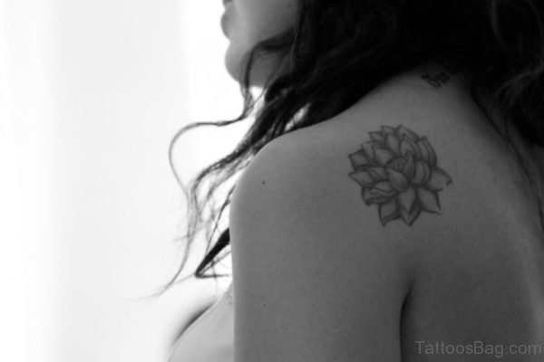 Small Lotus Flower Tattoo On Back