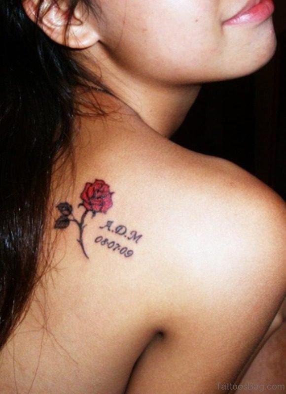 Small Memorial Shoulder Tattoo