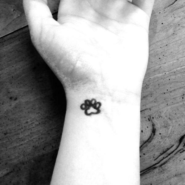 Small Paw Tattoo