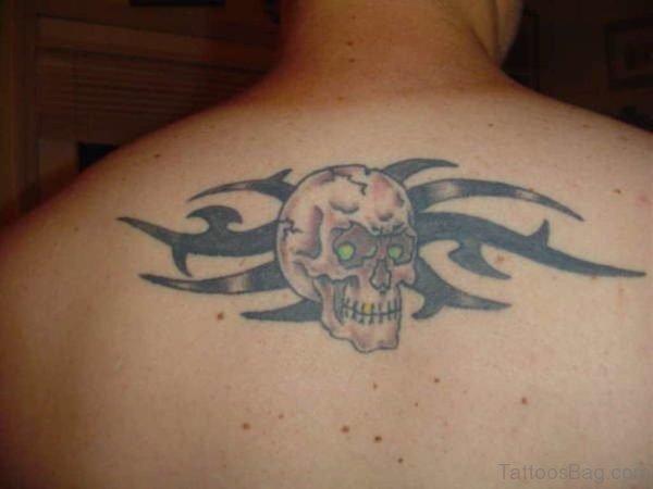 Small Skull Tattoo On Back