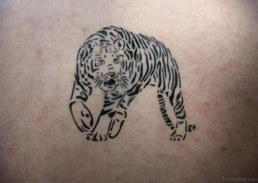 53 angry tiger tattoos on back for Small tiger tattoos