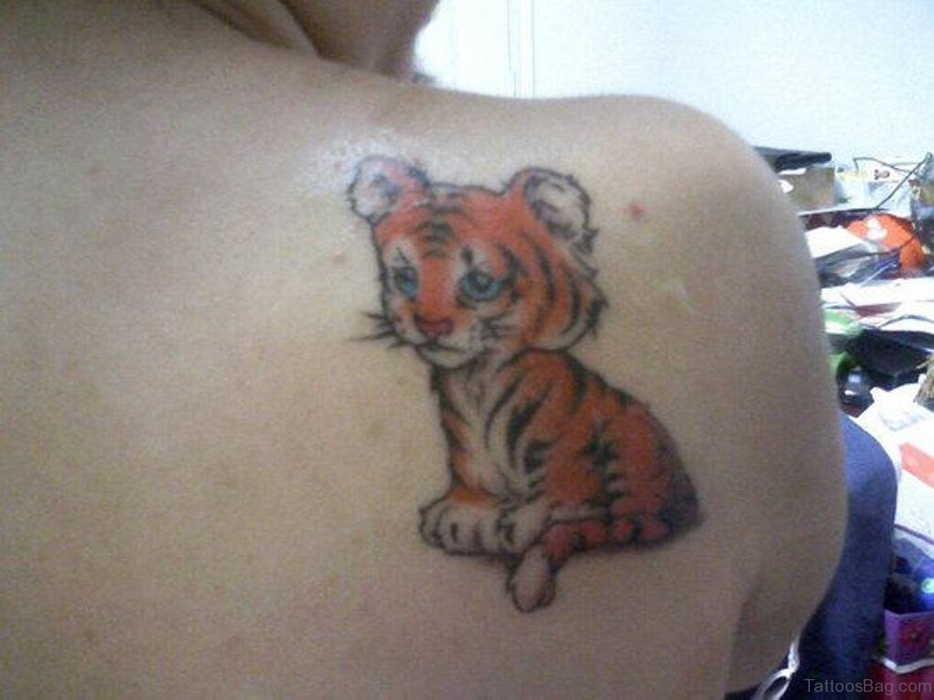73 good looking animal tattoos for back for Small tiger tattoos