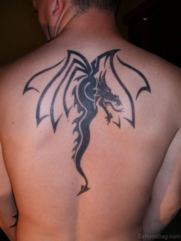 Small Tribal  Dragon Tattoo