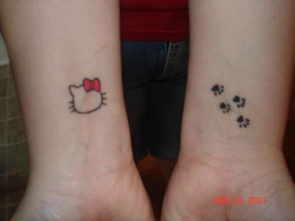 Small kitty Wrist Tattoo