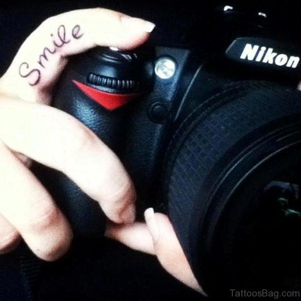 Smile Word Tattoo