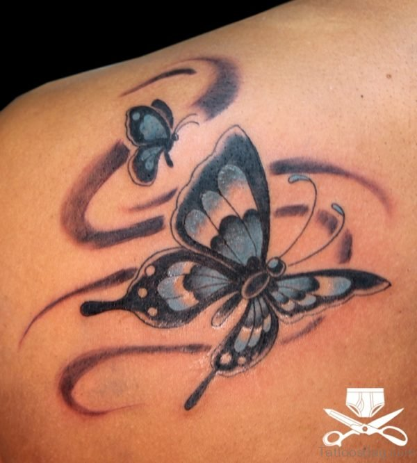 Smokey Butterflies Tattoo
