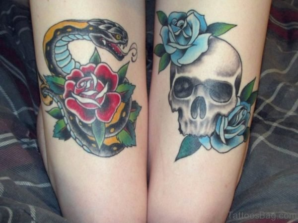 Snake And Skull Tattoo
