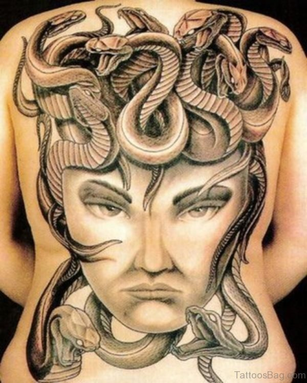 Snakes And  Face Tattoo