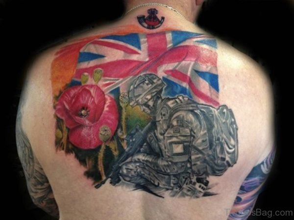 Soldier And Poppy Tattoo