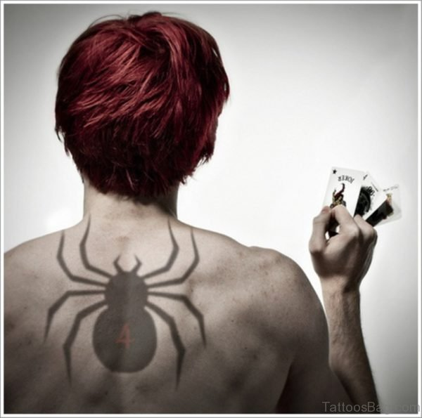 Spider Tattoo On Back