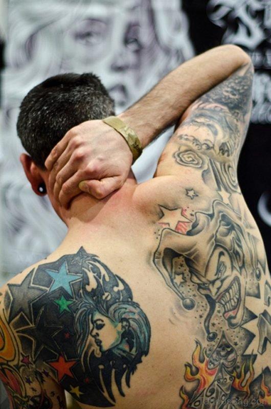 Star And Devil Tattoo