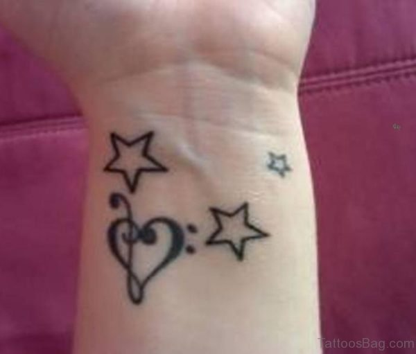 Star And Heart Tattoo