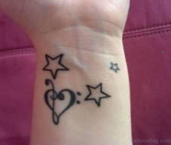 Star Heart Tattoo