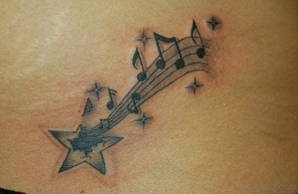 Star  Music Note Tattoo