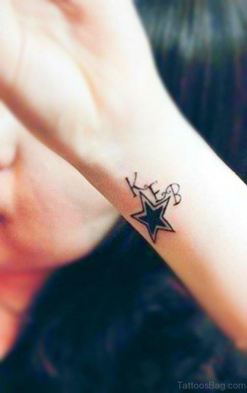 Star Tattoo On Wrist