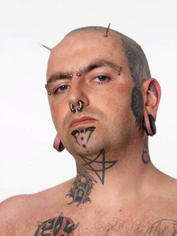 Stars Neck Tattoo
