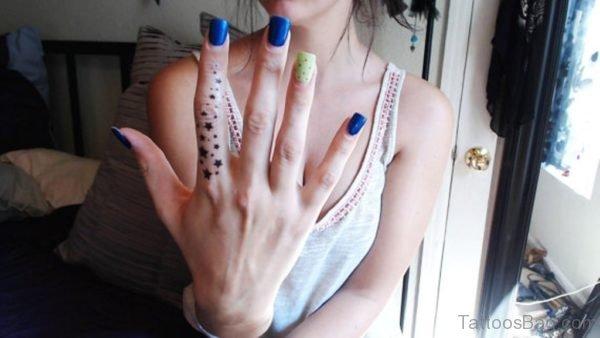 Stars Tattoo Design On Finger