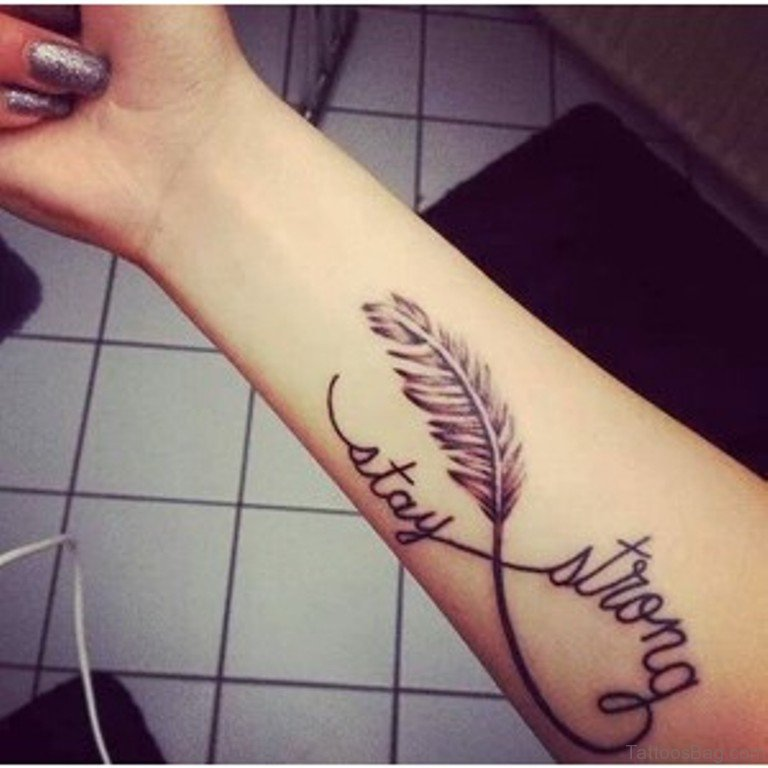 56 Alluring Stay Strong Tattoos On Wrist