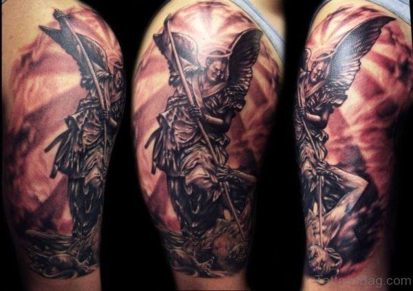 Stunning Angel Shoulder Tattoo Design