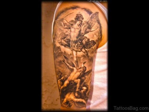 Stunning Angel Tattoo On Shoulder