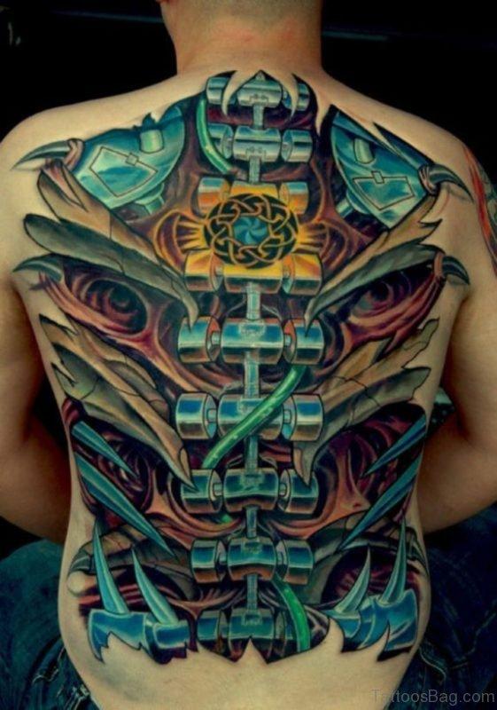 Stunning Biomechanical Tattoo