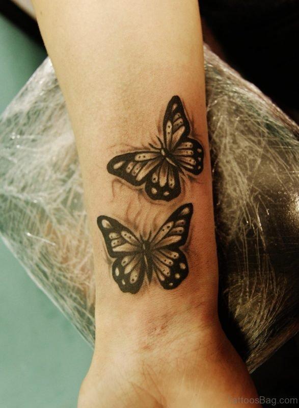 Stunning Butterfly Tattoo On Wrist