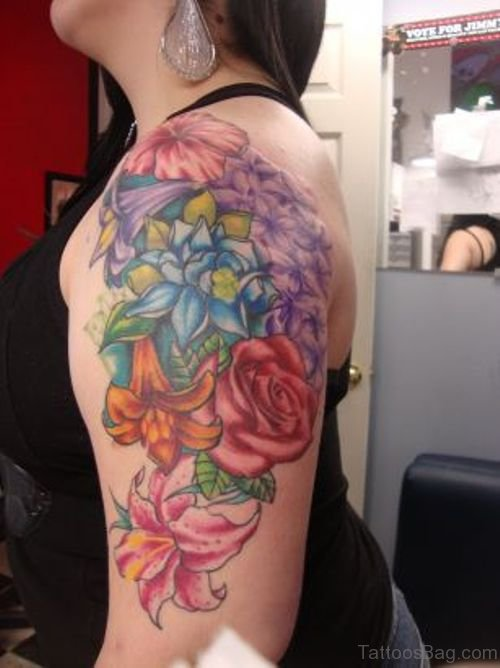 Stunning Flowers Tattoo