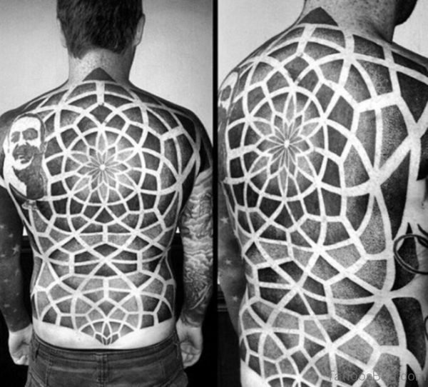 Stunning Geometric Tattoo On Full Back