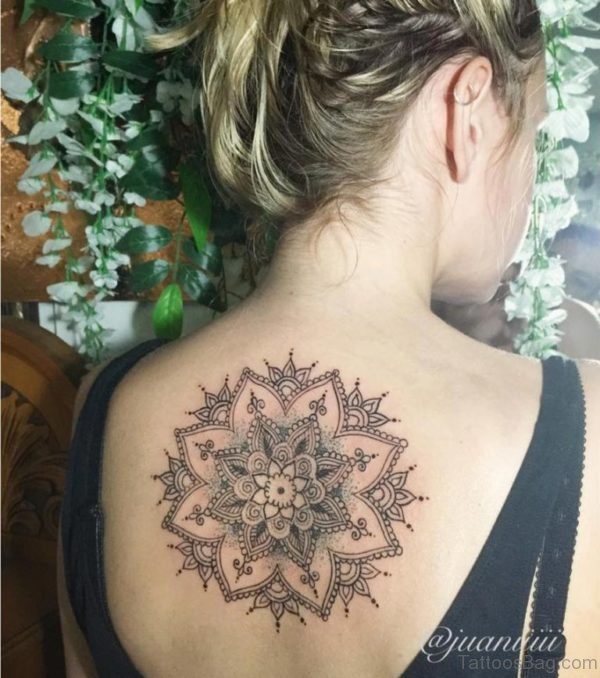 Stunning Mandala Tattoo On Back