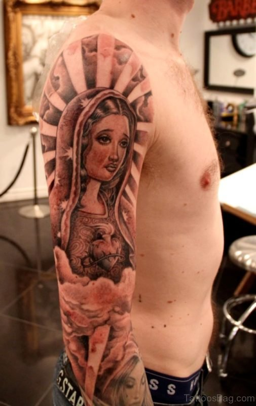 Stunning Mary Tattoo Design