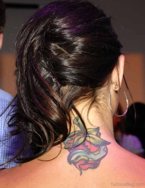Stunning Neck Heart Tattoo