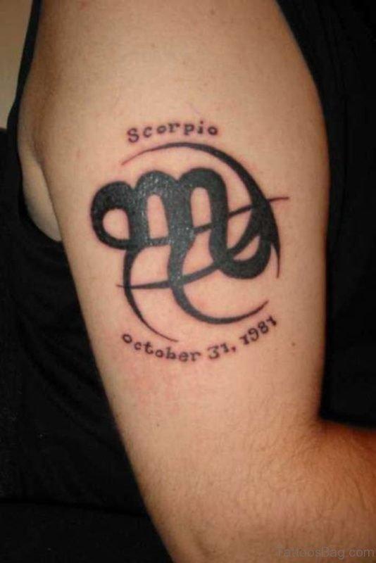 Stunning Scorpio Symbol Tattoo