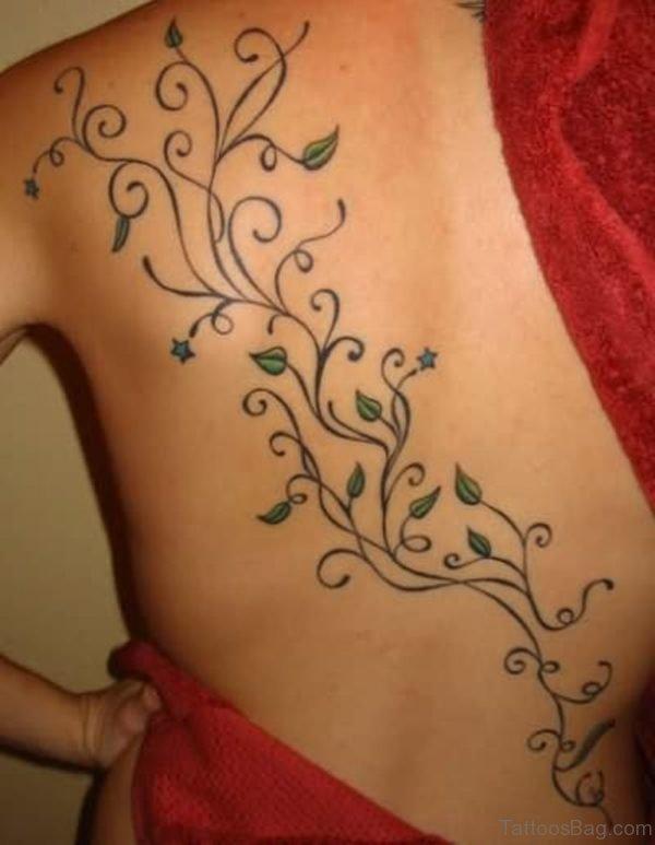 Stunning Vine Shoulder Tattoo