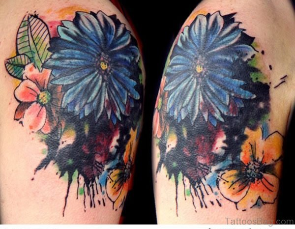 Stunning Vintage Flower Tattoo