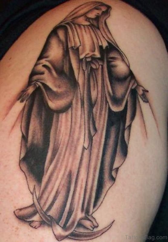 Stunning Virgin Mary Tattoo