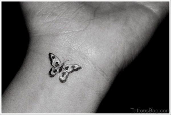 Stunning Wrist Butterfly Tattoo