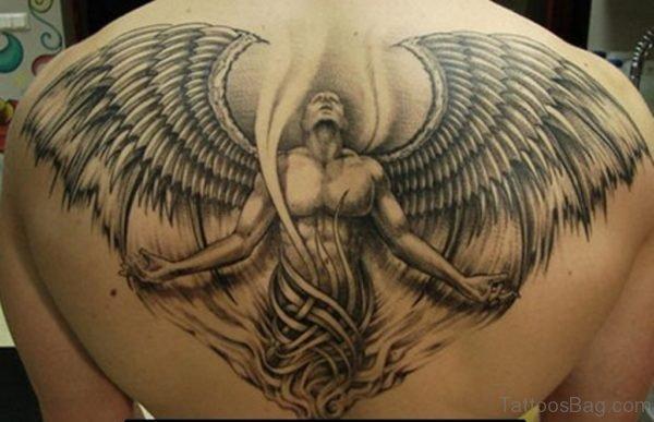 Stylish Angel Tattoo