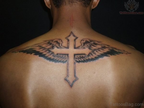 98 best cross with wings tattoos for back rh tattoosbag com cross angel wings tattoo cross with angel wings tattoo designs
